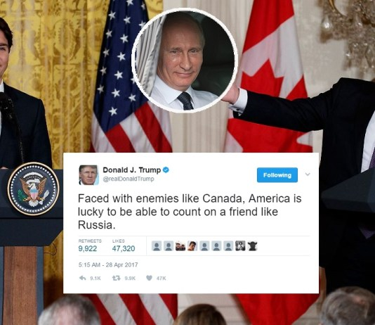Trump 'Thankful' For Russia's Support In Inevitable War With Canada | Trump Russia Canada