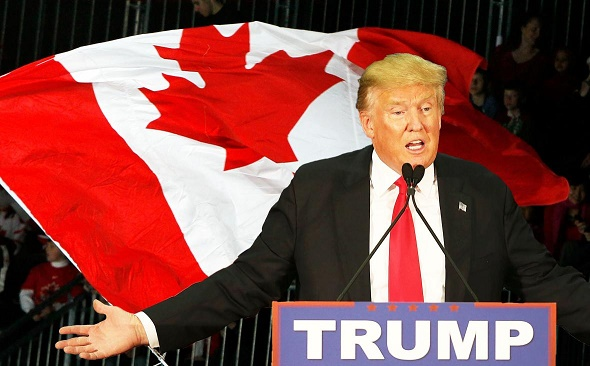 Trump Demands Canadian Border Wall After Learning Mexico Not Only Country Adjacent To U.S.