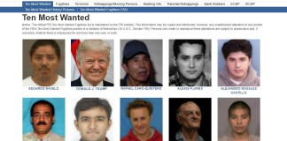 Image Of Trump Briefly Appears On FBI Most Wanted List | Trump FBI Most Wanted