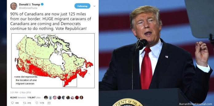 Trump-Warns-Of-Canadian-Migrant-Caravans