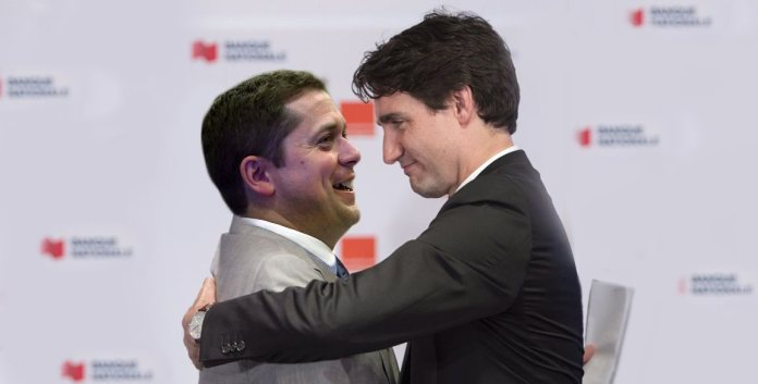 Trudeau Scheer kiss expected to happen this week