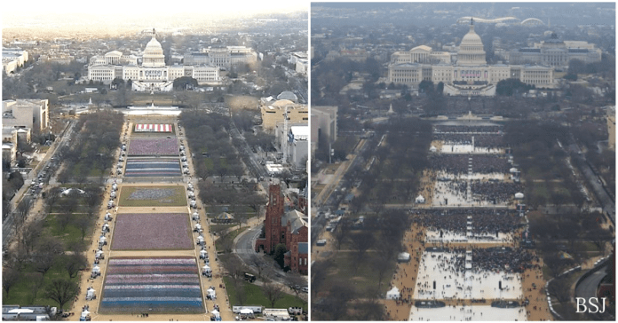 Trump Mocks Biden Over Size Of Inauguration Crowd | Biden Inauguration Crowd v Trump's