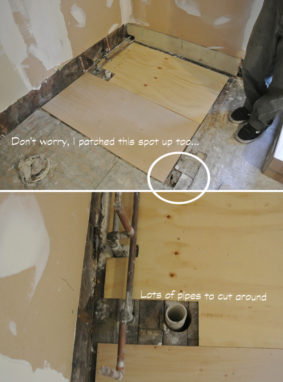 Fixing the subfloor | Burritos and Bubbly