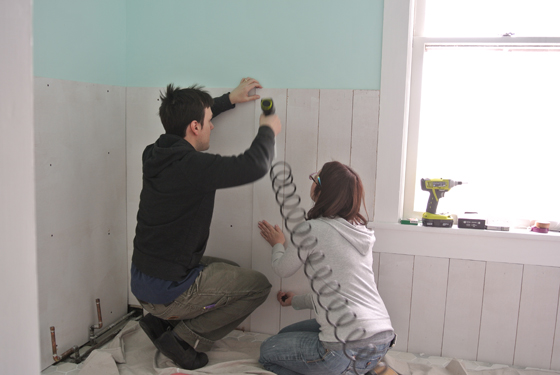 Installing Wainscoting | Burritos and Bubbly
