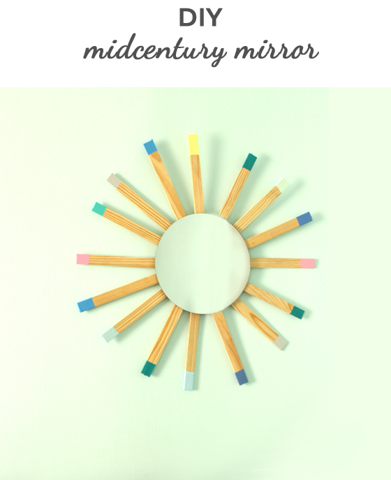 DIY midcentury sunburst mirror | Burritos and Bubbly