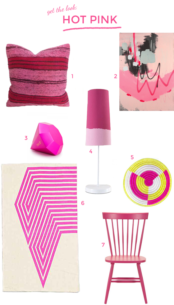 get the look: hot pink // Burritos and Bubbly