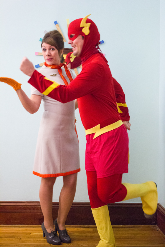The Flash and The Stewardess | Halloween 2014 | Burritos and Bubbly
