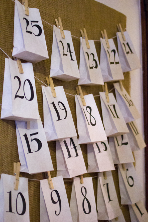 simple advent calendar DIY