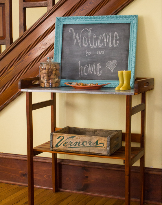 our entryway | Burritos and Bubbly