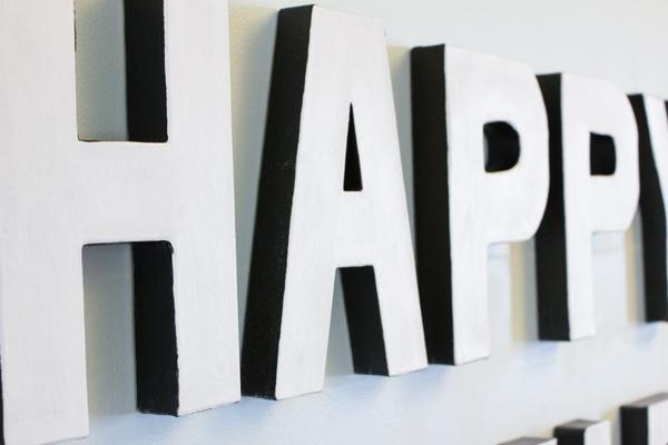 DIY happy hour sign