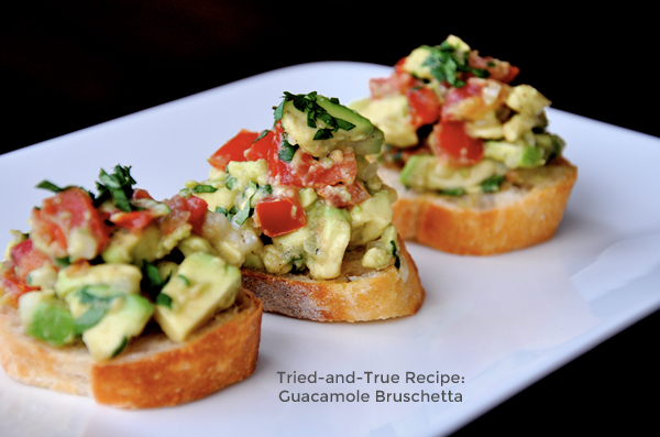 Tried-and-True Recipe: Guacamole Bruschetta