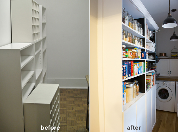 our pantry: before and after