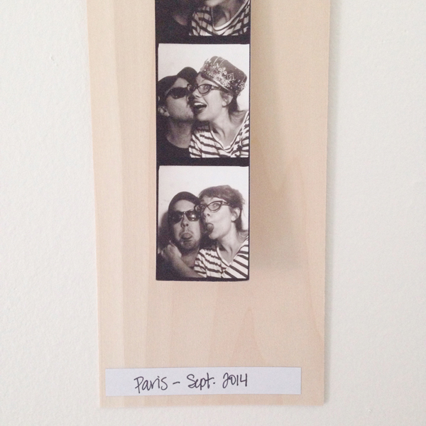 DIY photobooth frame