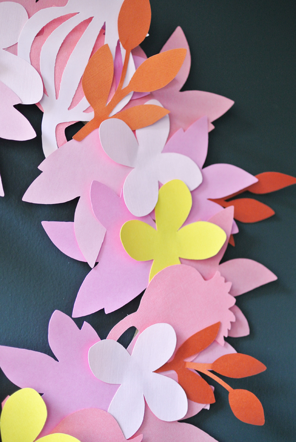 DIY paper flower wreath   Burritos and Bubbly