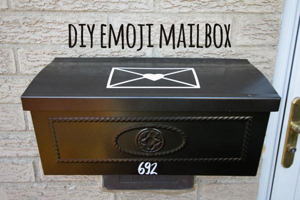 DIY emoji mailbox