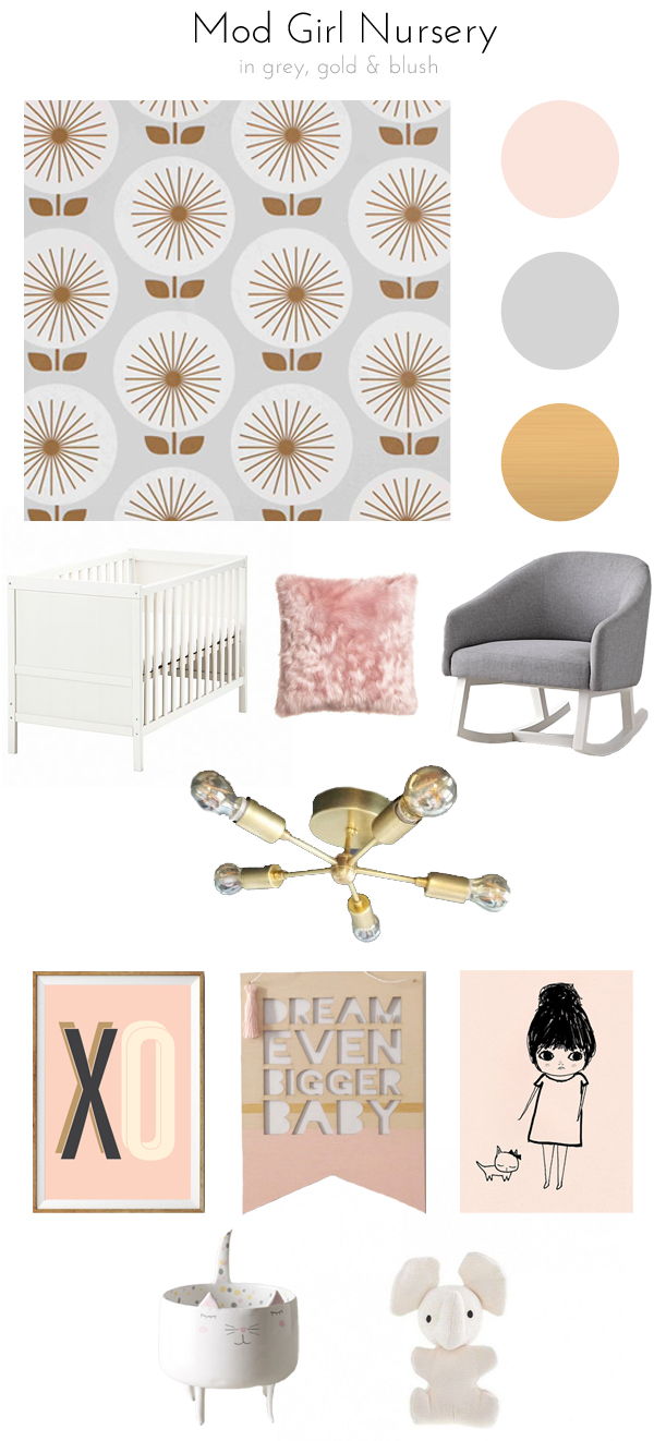 Mod girl nursery plans!