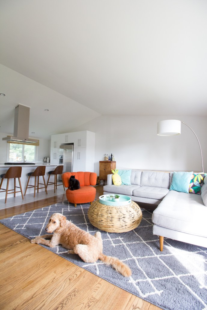Burritos and Bubbly house tour, one year in: the living room