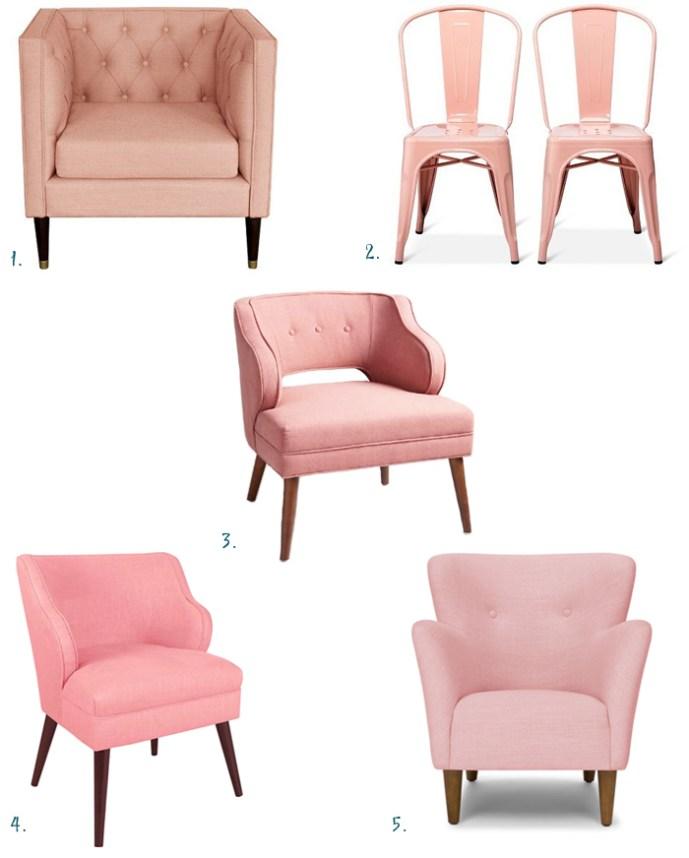 favorite blush pink chairs