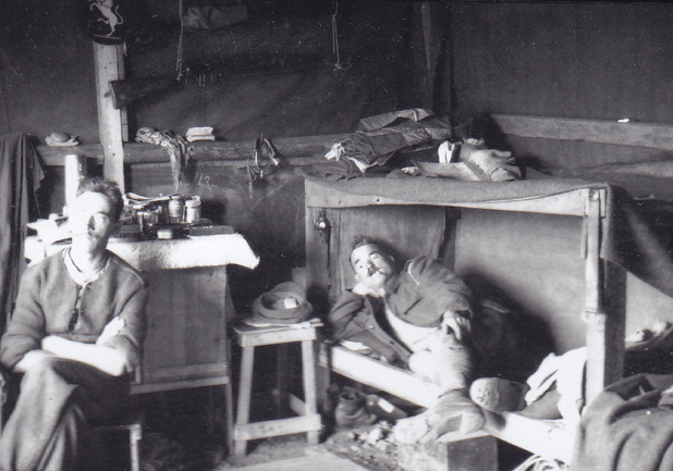 Soldiers resting image