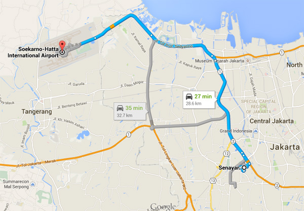 peta-waktu-jarak-tempuh-bandara-soekarno-hatta-senayan
