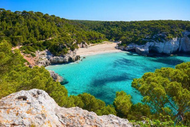 Islas Baleares. Calas de Menorca. Maravillas naturales