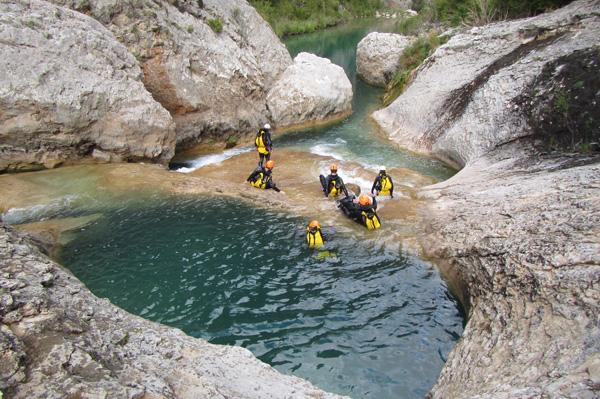 Barranquismo en el río Vero