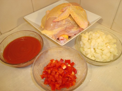 Salsa de pollo ingredientes