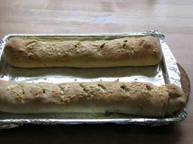 Stromboli salido del horno