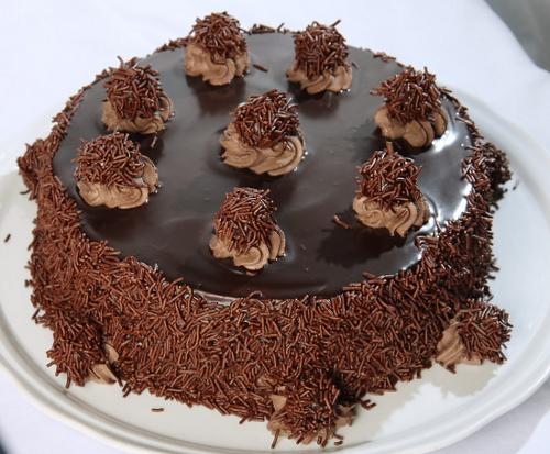 Torta de chocolate con trufas