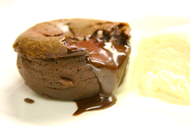 Pudding de chocolate y naranja