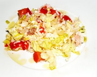 Ensalada de arroz baja en colesterol