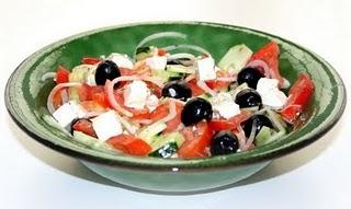 Ensalada Griega baja en colesterol