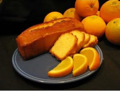 Budín de naranja y pasas