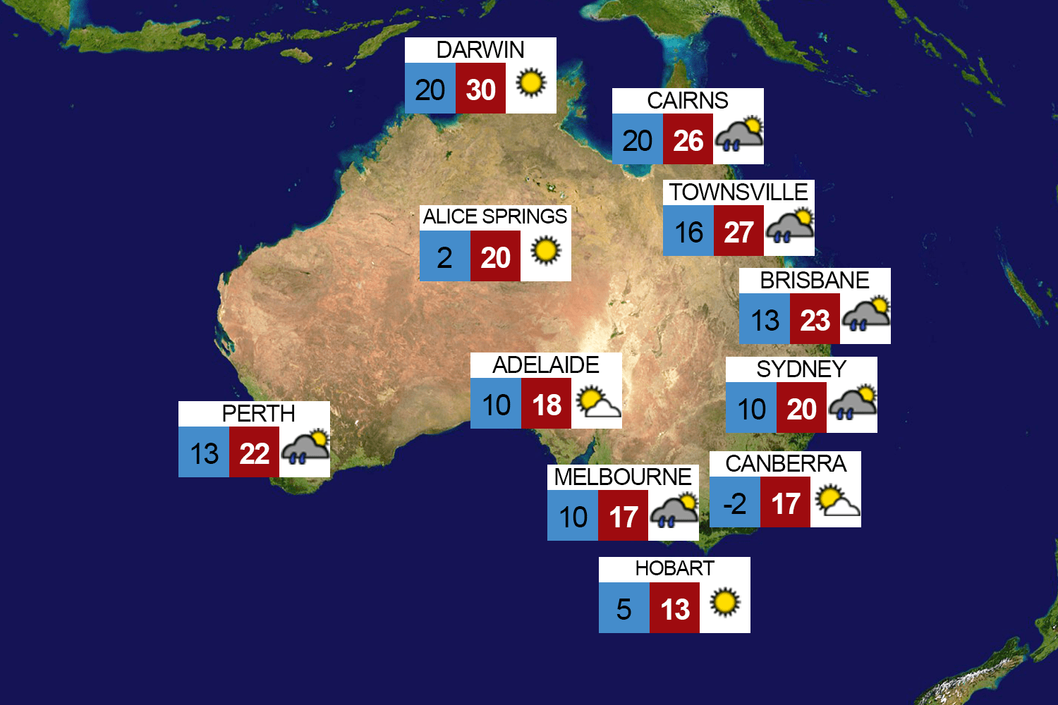 Weather Map Worksheet Australia