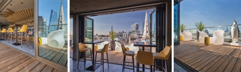 Kebony terrace offers exceptional views of London's iconic skyline