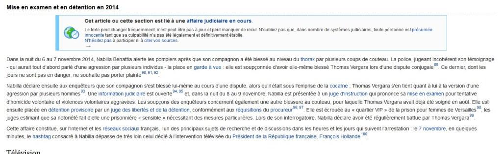 page wikipedia de nabilla