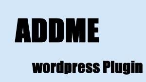 plugin wordpress gratuit addme