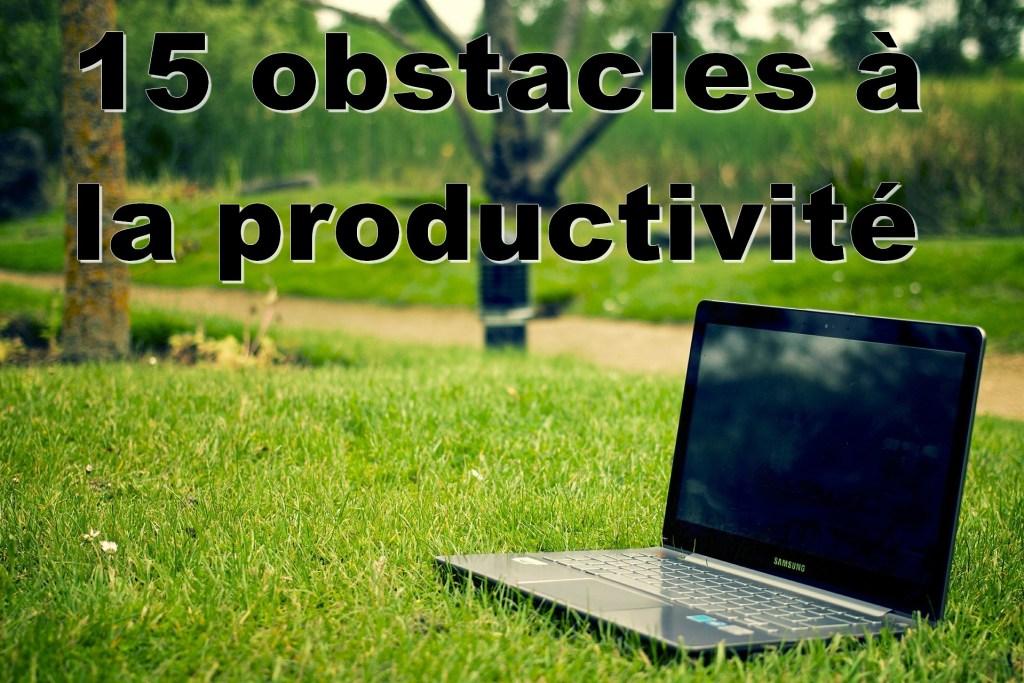 les principaux obstacles à la productivité