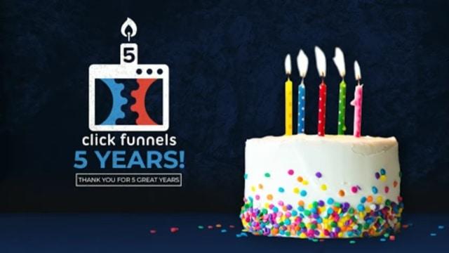 5eme anniversaire Clickfunnels