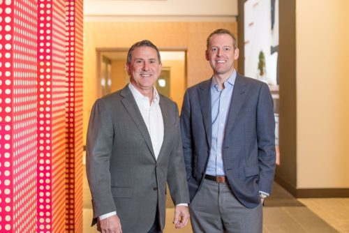 Target CEO Brian Cornell (left) and Shipt CEO and founder Bill Smith