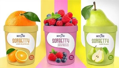 Ice cream products of Romanian ice cream company Betty Ice