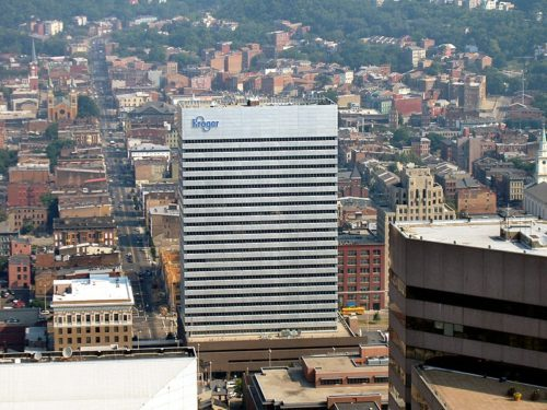Headquarters of US supermarket chain Kroger in Cincinnati