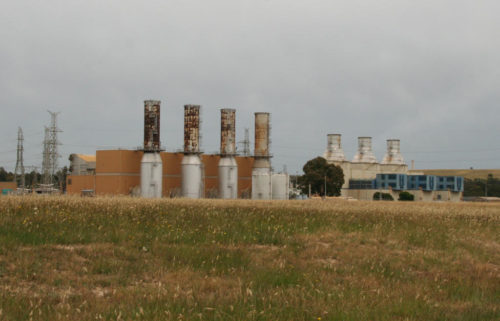 Gas turbines of the Jeeralang gas-fired power plant in Victoria