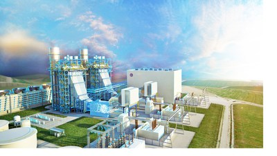 Illustration of DTE Energy's Blue Water Energy Center in Michigan.