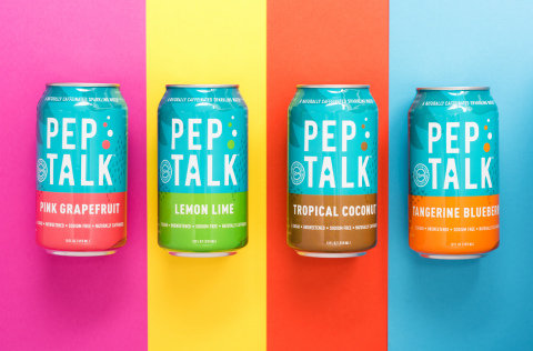 Pep Talk caffeinated sparkling water