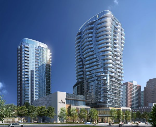 The Avenue Bellevue project includes two residential towers, hotel, and retail spaces.