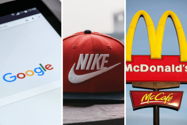 collage of three images showing big brands in relation to sponsorships