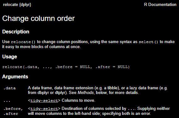 Change Column Order