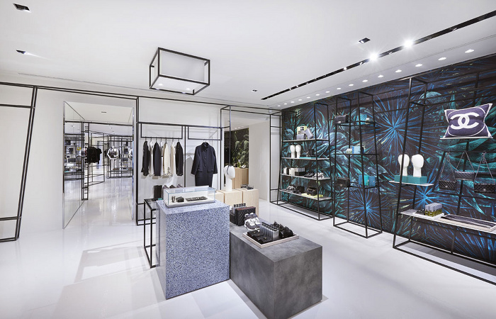 Chanel popup design interior