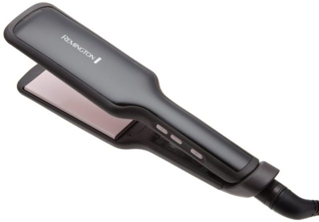 Remington S9520 Salon Collection Ceramic Hair Straightener with Pearl Infused Wide Plates, 2-Inch, Black - Hair Straightener